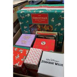 BOX OF CHRISTMAS WALL PLATES/DISNEY MUGS