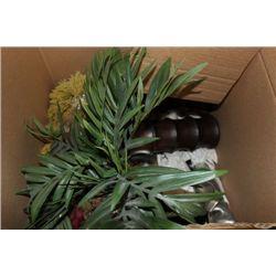 BOX MISCELLANEOUS DECORATIVE ITEMS