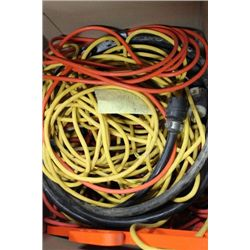 BOX WITH HEAVY DUTY EXTENSION CORDS