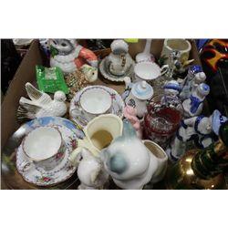 VINTAGE ORNAMENTS, ROYAL ALBERT CHINA TEA CUPS