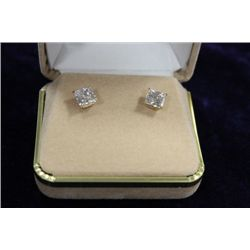 14 KT GOLD CZ EARRINGS