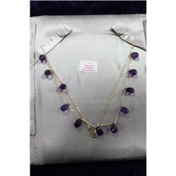 10 KT GOLD AMETHYST NECKLACE