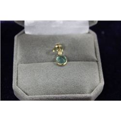 14 KT GOLD EMERALD (1CT) DIAMOND PENDANT