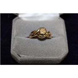 14 KT GOLD DIAMOND RING