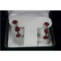 14 KT GOLD RUBY (6.0CT) AND DIAMOND (0.17CT)