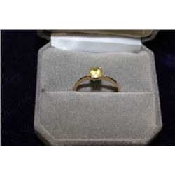 14 KT GOLD YELLOW SAPPHIRE (0.70CT) RING