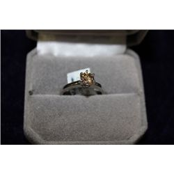 14 KT GOLD BROWN DIAMOND (0.65CT) RING
