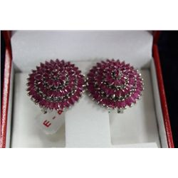 ST SILVER RUBY (21.32CT) EARRINGS