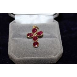14 KT GOLD RUBY (3.50CT) PENDANT