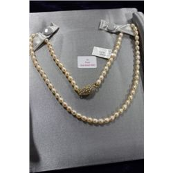 MAGNETIC CLASP PEARL NECKLACE