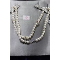 PEARL NECKLACE W 10 KT GOLD CLASP