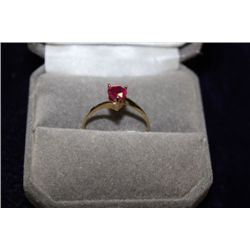 10 KT GOLD RUBY (0.75CT) RING