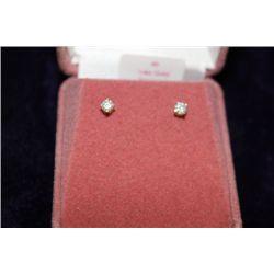 14 KT GOLD DIAMOND (.25CT) EARRINGS