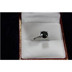 14 KT GOLD BLACK DIAMOND (1.85CT) RING