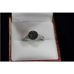 14 KT GOLD BLACK DIAMOND (.35CT) RING