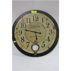 LARGE NOSTALGIC WALL CLOCK