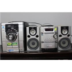SONY STEREO SYSTEMS (SELLING AS IS)