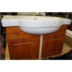 NEW WOOD FLOATING BATHROOM VANITY