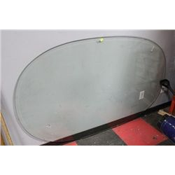 OVAL SHAPED GLASS TABLETOP