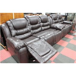 NEW CHOCLATE BROWN RECLINING SOFA AND LOVE SEAT