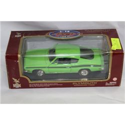 PLYMOUTH BARRACUDA 1969 DIE CAST SCALE 1:18