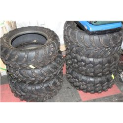 6 ATV TIRES SELLING TOGETHER