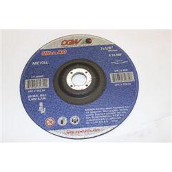 """CASE W 25 7 1/8"""" METAL GRINDING DISCS"""