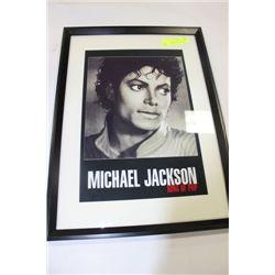 """MICHAEL JACKSON PORTRAIT FRAMED PICTURE 16"""" X 22"""""""