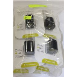 BAG OF USB WALL CHARGERS FOR SMARTPHONES AND