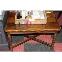 ESTATE WOOD END TABLE