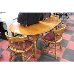 MAPLE TABLE W 4 CHAIRS