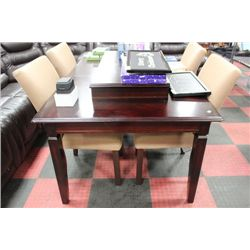 NEW TABLE W 4 FABRIC SIDECHAIRS