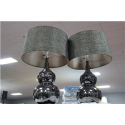 SHOWHOME PAIR OF DECORATIVE LAMPS