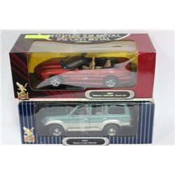 DIE CAST COLLECTIBLE 1:18 SCALE X2