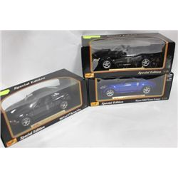 DIE CAST COLLECTIBLE CARS, 1:18 SCALE X3