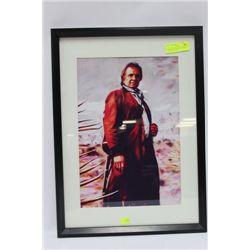"JOHNNY CASH PORTRAIT FRAMED PICTURE 16"" X 22"""