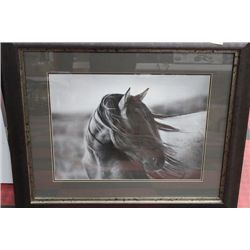MANE BLOWING IN THE WIND - WOOD FRAMED HORSE