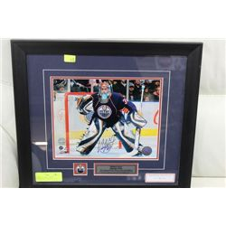 FRAMED MATHIEU GARON AUTOGRAPHED HOCKEY PICTURE