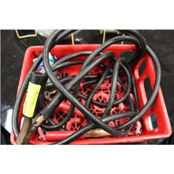 PAIR OF HEAVY DUTY BOOSTER CABLES SOLD W 1/2 BOX