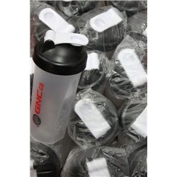 BOX OF SPORTS DRINK SHAKERS