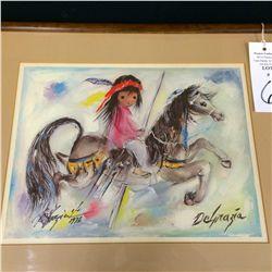Signed Framed DeGrazia Print