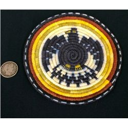 Hopi Coiled Plaque Basket