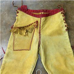 Handmade Leather Buckskin Pants