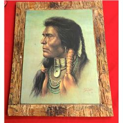 Bill Hampton Indian Print