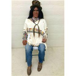 Lifesize Wooden Indian by Bob White Eagle