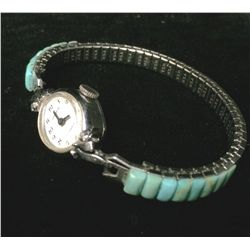Antique Gruen Watch with Turquoise Band
