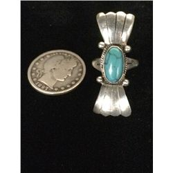 Sterling and Turquoise Ladies Ring