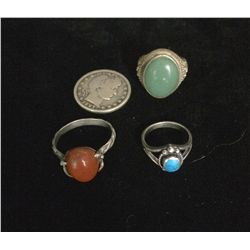 Southwestern Style Sterling Ring Lot