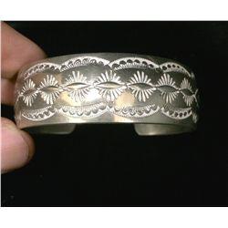 Sterling Cuff Bracelet by Belinda Woody