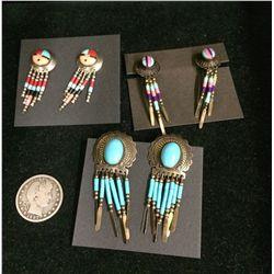 Southwestern Style Sterling Earring Lot